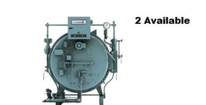 Used 80 HP hot water 4‐Pass Dryback boilers made by Cleaver‐Brooks.