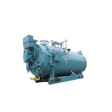 350 HP high pressure steam 4‐Pass Dryback used boiler made by Cleaver‐Brooks.