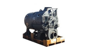 120 HP 2‐Pass Dryback used boiler made by Cyclotherm.