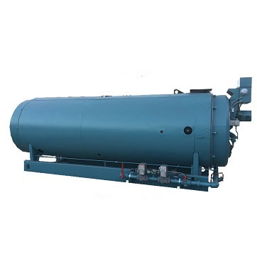 Used 200 HP 4‐Pass Dryback Hot Water boiler made by Cleaver‐Brooks.