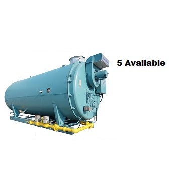 250 HP 4‐Pass Dryback boilers made by Cleaver‐Brooks.