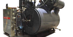 Used 350 HP Watertube Coil boiler made by Vapor Power.